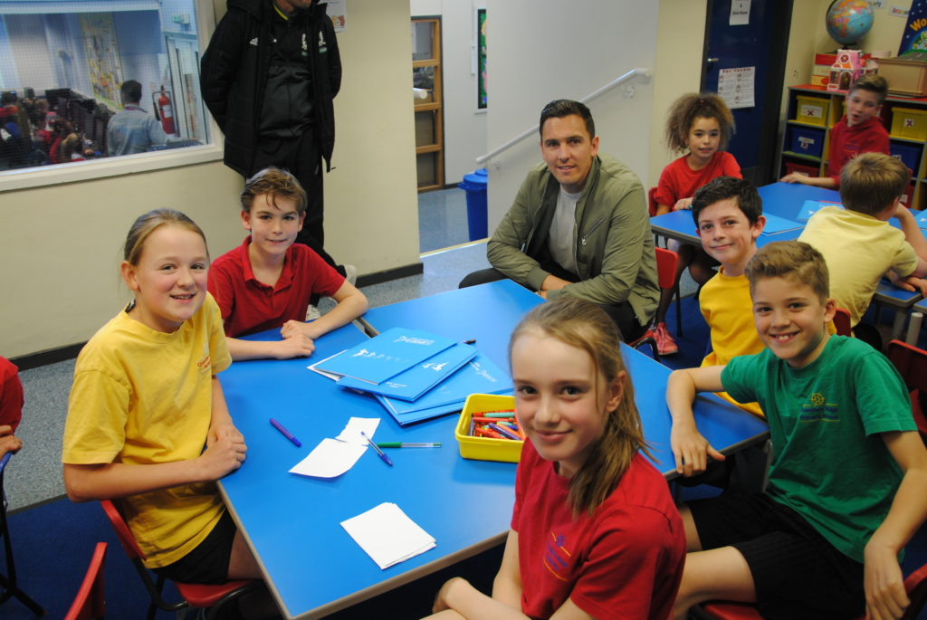 Stewart Downing Gets Kids Moving In Middlesbrough Efl Trust